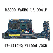 PC Laptop Motherboard Mainboard Notebook K1100M Precision DELL LA-9941P FOR M3800 Vaub0/La-9941p/I7-4712hq/K1100m