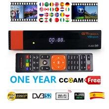 цена на GT Media V8 Nova DVB-S2 Freesat Satellite Receiver V8 Super H.265 WIFI 1 Years Europe Spain PT DE PO CCcam TV decoder HDMI 1080p