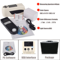 Professional Color Difference Meter Tester NR200 USB Interface 8mm Portable Digital Colorimeter