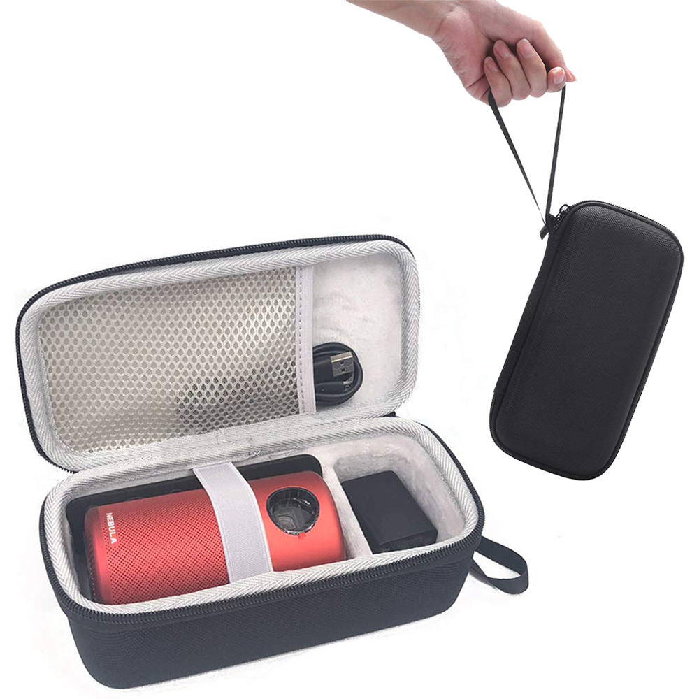 Hard Travel Protective Case Storage Box for Anker Nebula Capsule Smart Mini Projector Drive Accessories Carry Bag (Upgraded)