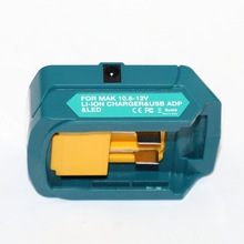 Upgraded Adapter For Makita ADP06 12V BL106/BL02/BL104/BL03/BL02 USB CXT Lithium Ion Cordless Power Source With LED Light