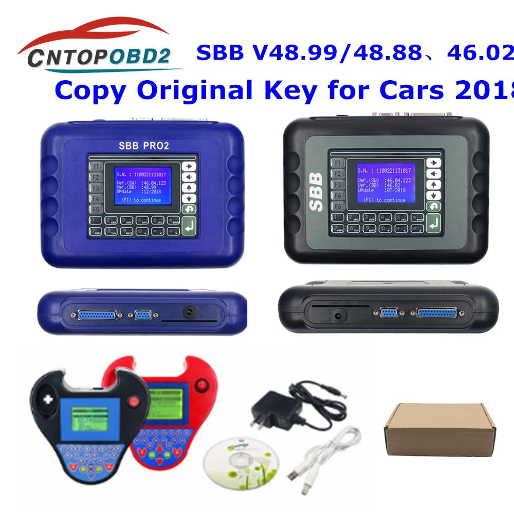 SBB Pro2 V48.99 Key Programmer SBB V48.88 No Tokens SBB PRO 2 48.99 Car key makers Auto Key Transponder Scanner No Tokens Limits