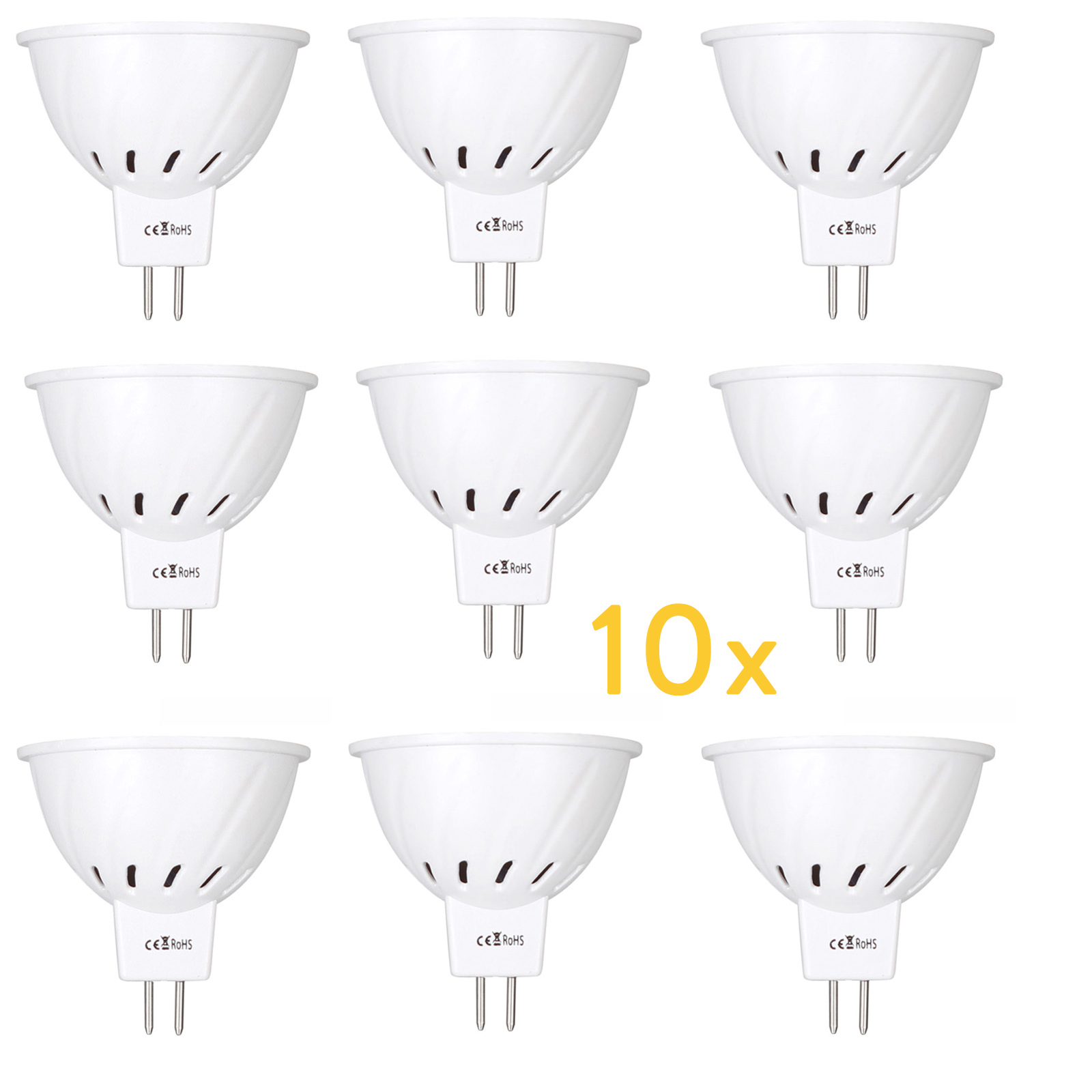 10x MR16 12V-24V LED Bulbs Light 220V <font><b>SMD</b></font> <font><b>2835</b></font> Led Spotlights 4W 6W 8W 36 54 72LED Warm Cold Warm White MR 16 LED Lamp For Home image