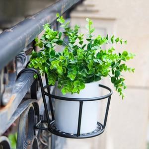 Image 5 - 強力な多彩な軽量幾何学的な金属植物スタンド植物棚ラック屋内 myding