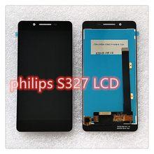 5.5 Cal do wyświetlacza LCD Philips Xenium S327 czujnik pojemnościowy podwójny montaż Digitizer wysokiej jakości i niskiej cenie
