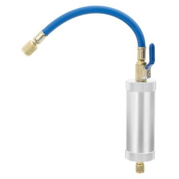"""R12 R134A R22 aire acondicionado inyección de aceite de coche tinte inyección 2 onzas 1/4 """"líquido puro aceite refrigerante tubo de relleno accesorios para coche"""