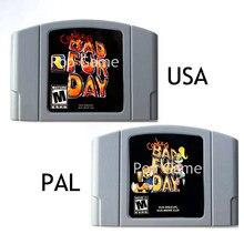 Cartucho de vídeo game conker, cartucho para conkers video game, dia dos eua, versão americana