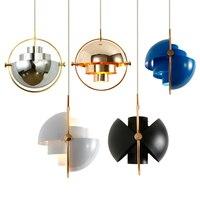 Nordic Gold Pendant Light Postmodern Minimalist Lamp Light Loft Pendant Lamps Home Restaurant Antique Cord Hanging Pendant Lamp
