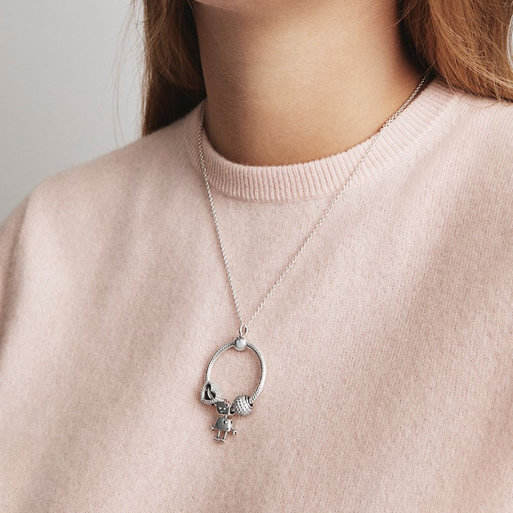Seialoy New Snake Chain Letter O Pendant Necklace Beads Charm Necklace For Women Original Lovers Necklace Boys Girl Jewelry Gift