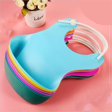 Baby Infant Toddler Waterproof Silicone Bib Strap Can Be Adjusted Infants Feeding Lunch Roll-up Apron