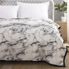 Marble Pattern Bedding Blankets Soft Flannel for Kids Adults Bedspread Bed Sheet Throw Blanket Thin Quilt Bedding