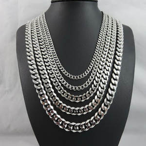 Women Necklace Jewelry Link-Chains Punk Cuban Hip-Hop Stainless-Steel Wholesale Men's