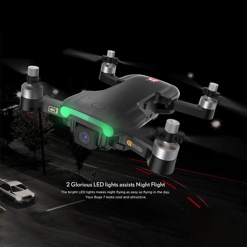 Zwn mjx bugs 7 b7 gps zangão quadcopter com 4k câmera de vídeo rc quadrocopter gps inteligente seguindo multicopter vs e520s sg907