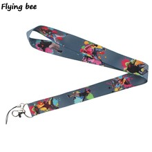 Flyingbee Dance hiphop cool Lanyard Keychain Keys Holder Women Strap Neck Lanyards for Keys ID Card phone lanyard X0369(China)