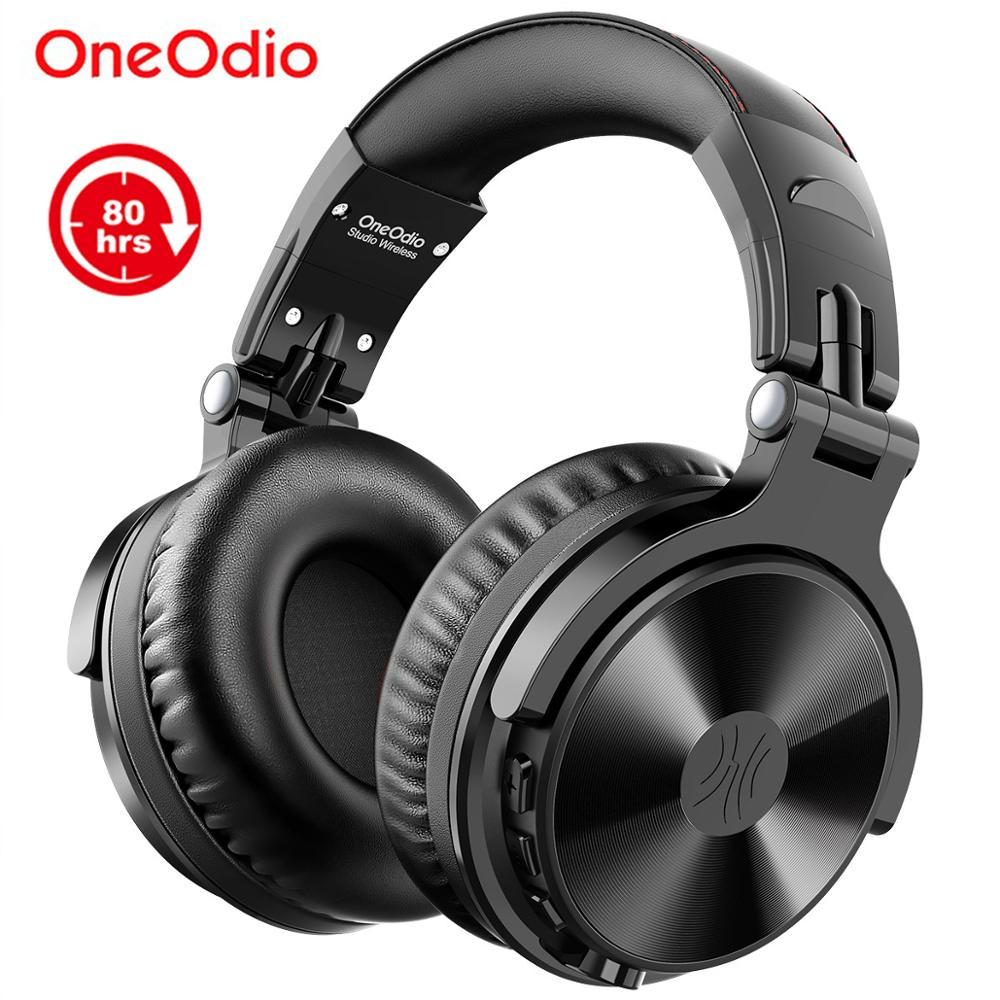 Oneodio Bluetooth Wireless Headphones With Microphone 80H Play Time Foldable Over Ear Bluetooth 5 0 Headset For Mobile Phone PC