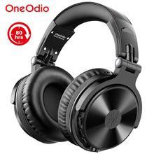 Oneodio bluetooth sem fio fones de ouvido com microfone 80h jogar tempo dobrável sobre a orelha bluetooth 5.0 fone para o telefone móvel pc
