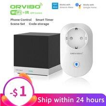 Orvibo sihirli küp kızılötesi uzaktan kumanda ve B25EU zamanlayıcı WiFi akıllı güç soket fiş akıllı ev otomasyonu için