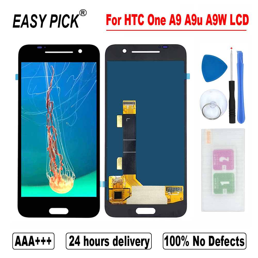 For HTC One A9 A9U A9W LCD Display Touch Screen Digitizer Assembly Free Tools For HTC A9s A9sx A9sh Global LCD Screen