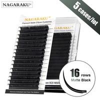 16 rows 5 cases Flat Ellipse Eyelashes Extensions Matte Black Split Tips False eyelashes natural light NAGARAKU Line