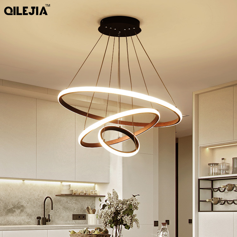Chandelier coffee/White For Lliving room Dining Room Kitchen Room round Shape Chandelier Lighting Fixtures Indoor lighting