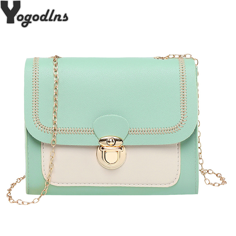 Chains PU Leather Crossbody Bags For Women 2019 Small Shoulder Messenger Bag Special Lock Design Female Travel Flap Handbags