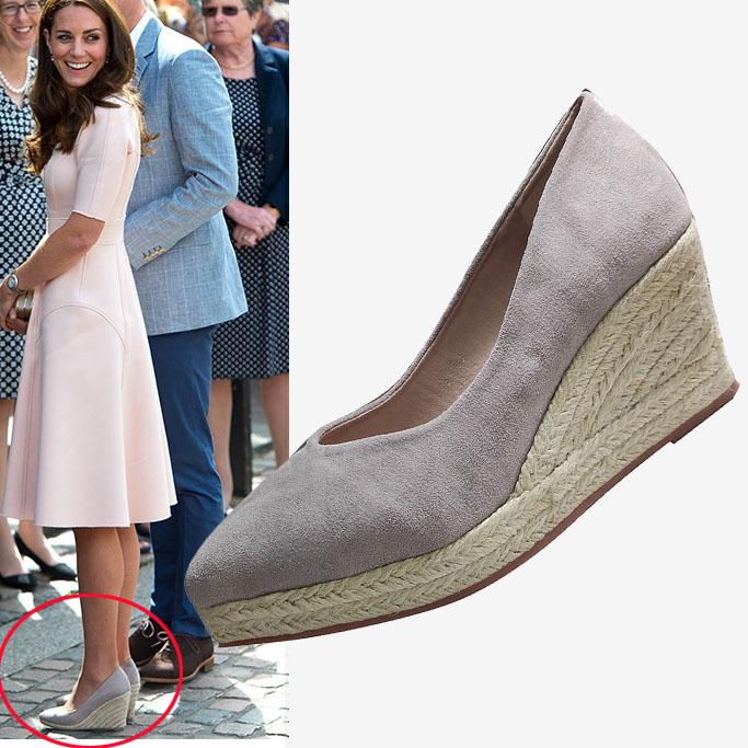 LIHUAMAO Suede women wedge shoes pointed toe pumps high heels platform lady pumps party espadrilles shoes singback princess same
