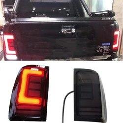 Buitenkant Auto Lampen Achter Led-verlichting Taillamp Met Richtingaanwijzer Kenmerken Fit Voor Vw Amarok V6 Achterlichten Pickup auto 2008-19