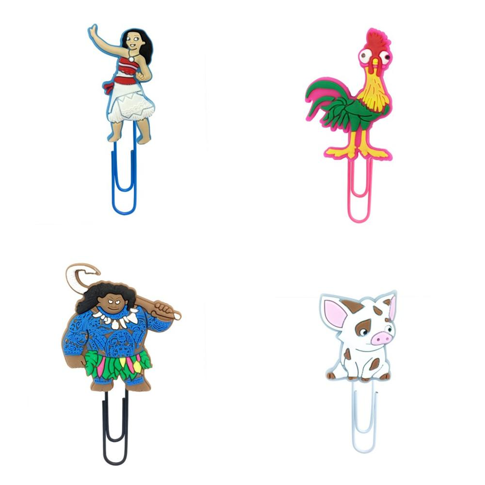 50Pcs Hot Sale Moana Bookmark Metal Clips Page Holder For Teacher Students Paper Clip School Supplies Decoration For Gifts