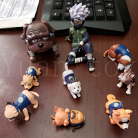 9pcs/lot Naruto Shippuden Figure Hatake Kakashi Eight Ren Dogs Action Figure Toy Doll Gift