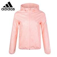 Original New Arrival Adidas WB EMBOSS FEM Women's jacket Hooded Sportswear