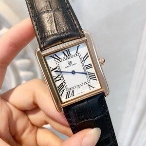 Image 3 - Offre spéciale relogio masculino luxe femmes/homme montre mode femmes reloj hombre robe montres décontracté rectangle en cuir amant montre