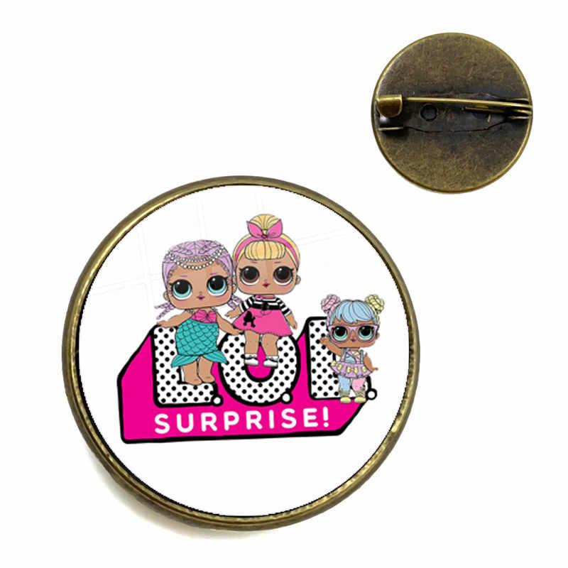 קלאסי קריקטורה דמויות סיכות 20mm זכוכית קרושון צווארון סיכות תכשיטי Kawaii מתנה עבור נשים בנות ילדים יום הולדת