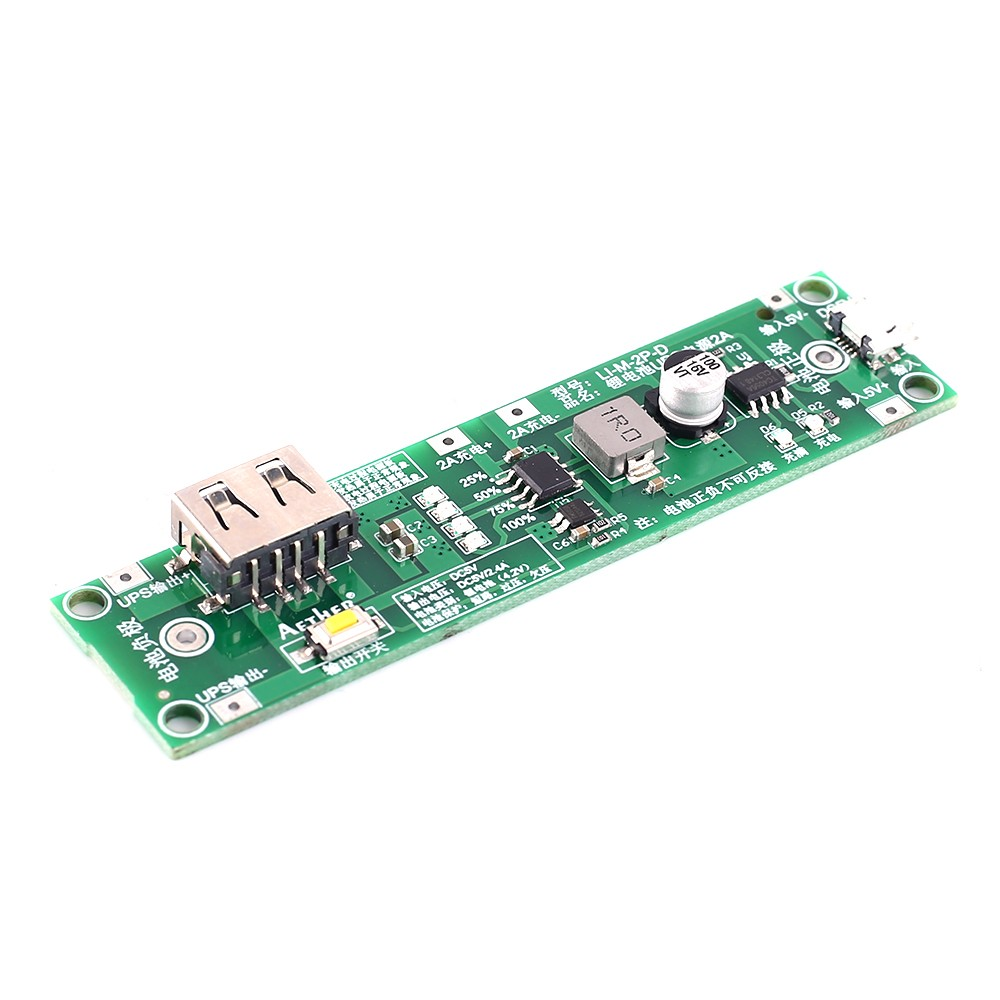 Battery Charging Board Power Charger Board Module Boost Converter Step UP Module 5V 2A UPS Power Supply 18650 Battery