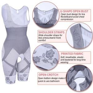 Image 4 - נשים מלא גוף Shaper מותן מאמן בטן Shaper הרזיה Faja גבוהה מותן בגד גוף Shapewear חלק בקרת חגורת מחוך