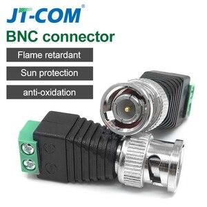 Разъем bnc, Переходник постоянного тока с разъемом «папа» и «мама», Коаксиальный CAT5, для светодиодных лент, CCTV-камер, аксессуары