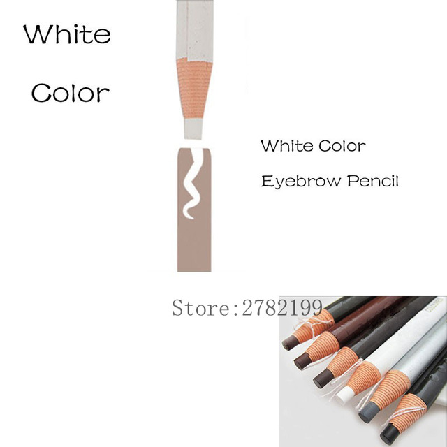 HOT Sale 1818 White Pencil Microblading Eyebrow Pencil Waterproof Marker Pen Peel-off Soft Coloured eyebrow Free shipping
