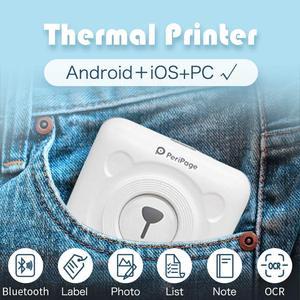 Image 5 - Mini impressora de papel bluetooth sem fio portátil, impressora de papel impressão térmica de bolso conexão usb
