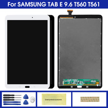 Display Voor Samsung Galaxy Tab E 9.6 SM-T560 T560 SM-T561 Lcd Touch Screen Digitizer Matrix Panel Tablet Montage Onderdelen(China)