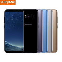 Unlocked Used Original Samsung Galaxy S8 Mobile Phone 4G LTE Octa Core 4GB RAM 64GB ROM 5.8''12MP Smartphone Android Cell Phones