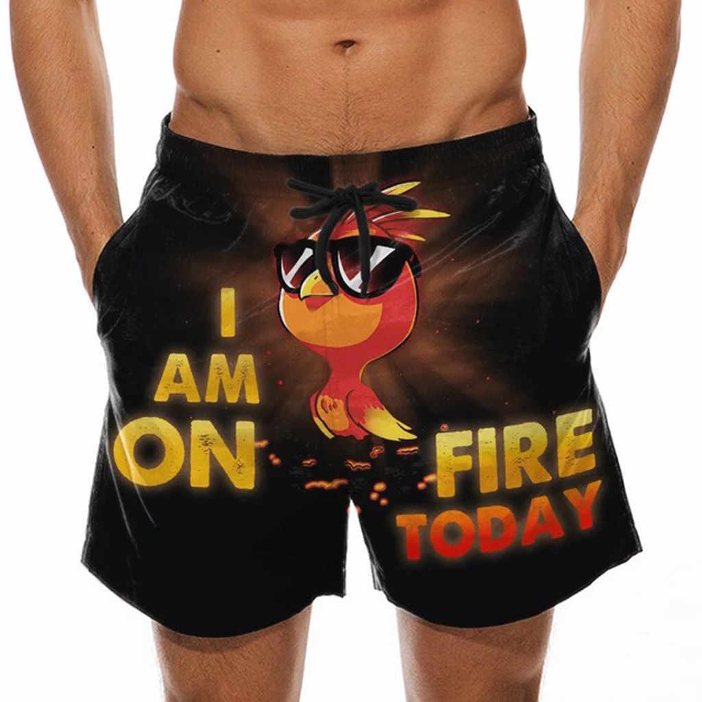 Pantalon de sport pour hommes, à cordon, imprimé coq spécial, pantalon de plage pour bière de Festival, décontracté