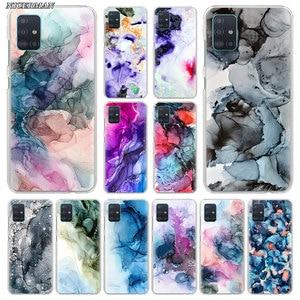 Rainbow Abstract Marble Fluid Ink Art Phone Case for Samsung Galaxy A50 A70 A51 A71 5G A10 A20 A10e A20s A30 A40 A31 A41 Cover