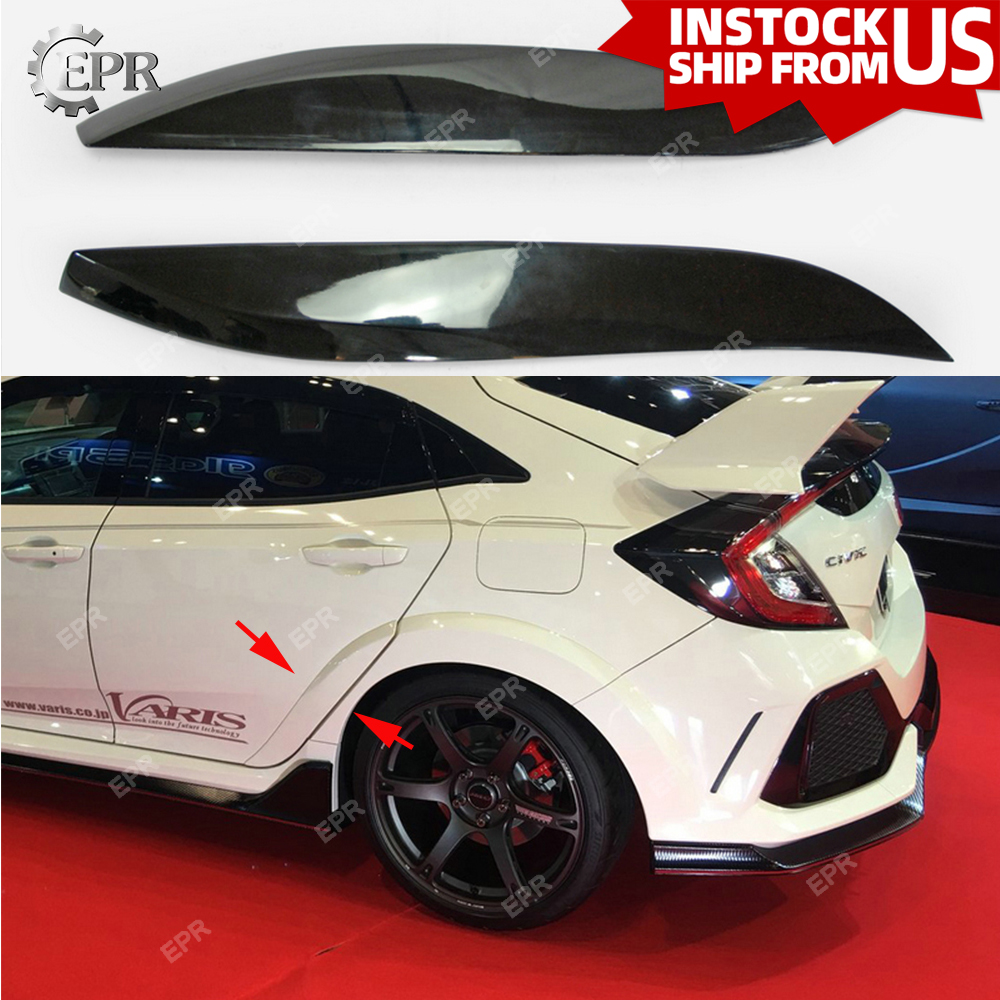 For Honda Civic 5Dr Type R FK8 VRSAR1 FRP Glass Fiber Rear Fender Trim Tuning Part For Civic FK8 Fiberglass Fender Add To(2017+)