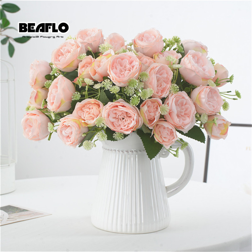 1Pc Artificial Flowers Home decoration flores artificiale faux silk flower plant