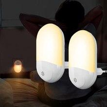 US EU Wall Plug PhotoSensitive Sensor LED Night Light Nightlight Lamp For Children Kids Living Room Bedroom Lighting