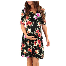 Maternity Summer Clothes For Pregnant Women Dress Short Sleeve Flower Womens Clothing