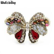 Роскошные Броши wuli & baby в виде Хрустальная брошь бабочки