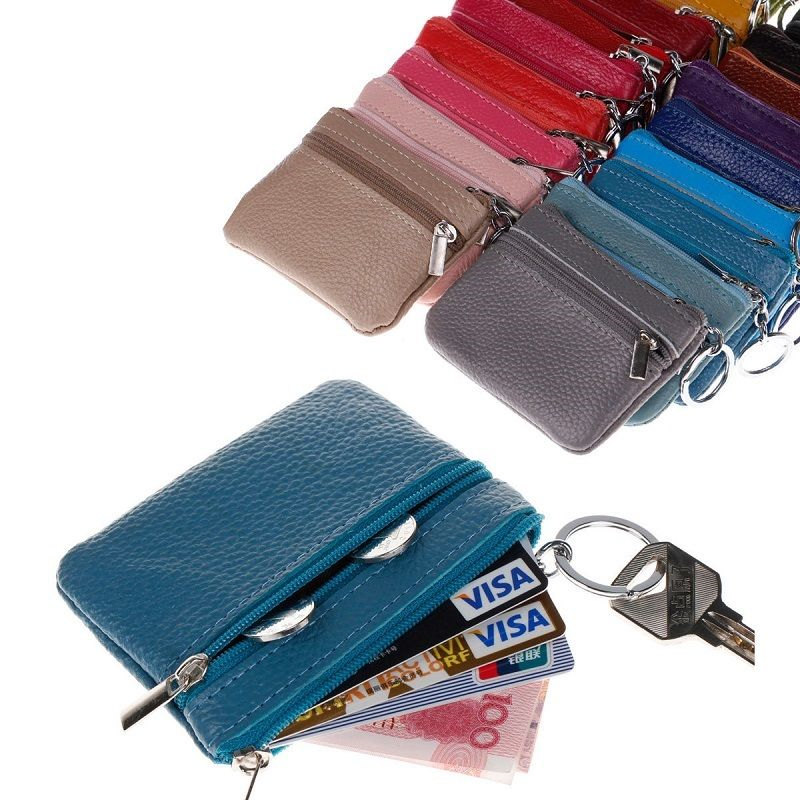 Women Men Ladies PU Leather Small Wallet Coin Purse Bag Card Holder Zip Clutch Zipper Short Mini Slim Wallet Handbag