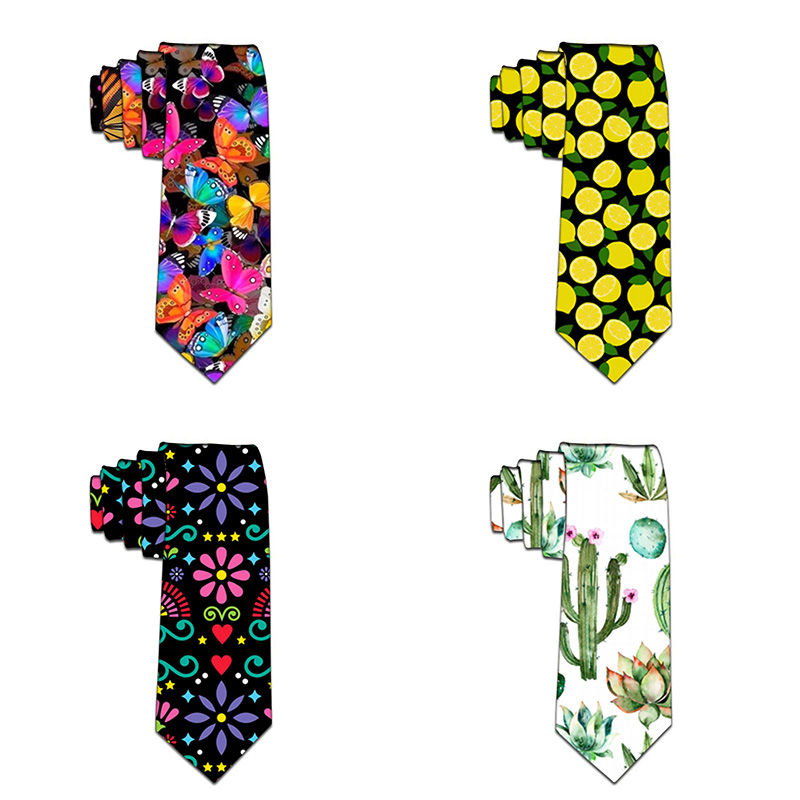 New Fashion Neckties Classic Men's 3D Printed Wedding Ties Men Colorful Tie Funny Neck Ties For Men Party Accessories 5LD47