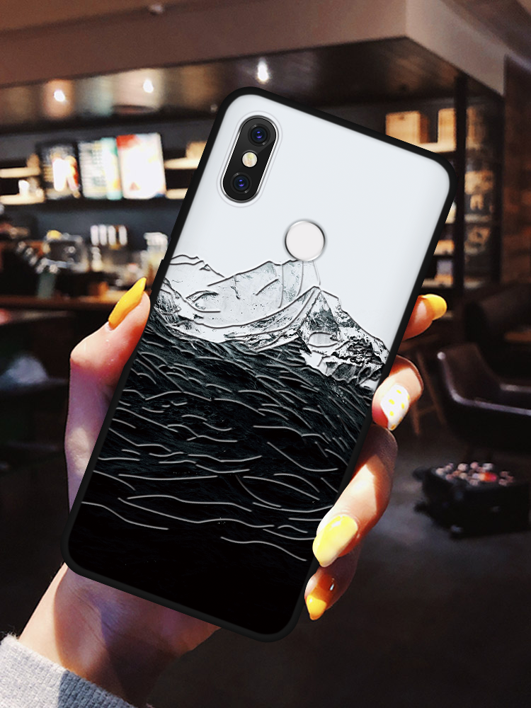 <font><b>3D</b></font> Relief Funda For Case <font><b>Xiaomi</b></font> <font><b>Redmi</b></font> 7A 6A 5 Plus K20 S2 <font><b>Note</b></font> 7 5 6 8 <font><b>Pro</b></font> Mi A3 A1 A2 8 Lite 9 <font><b>SE</b></font> 9T F1 CC9 CC9e TPU Back Cover image