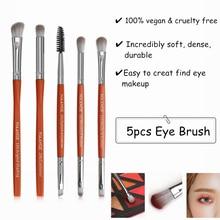 5pcs Eye Shadow Makeup Tool Brush Set For Angled Eyebrow Spoolie Eyeshadow Blending Shader Crease Precision Pencil Concealer недорого